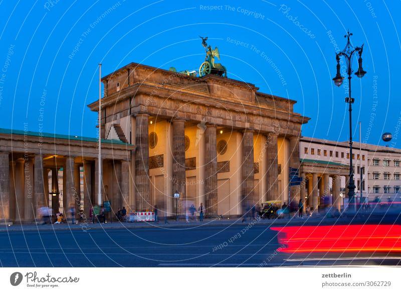 Brandenburger Tor again Abend Architektur Berlin Deutschland dunkel Dämmerung Hauptstadt Nacht Parlament Regierung Regierungssitz Spreebogen Wahrzeichen