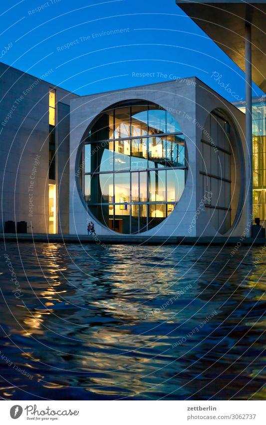 Marie Elisabeth Lüders Abend Architektur Berlin Deutschland dunkel Dämmerung Hauptstadt Bundeskanzler Amt marie elisabeth lüders haus Nacht Parlament Regierung
