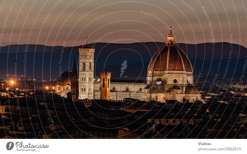 Kathedrale von Florenz Toskana Wiege der Renaissance Piazzale Michelangelo Kathedrale Santa Maria del Fiore Italien Sonnenuntergang Licht Bischofskirche