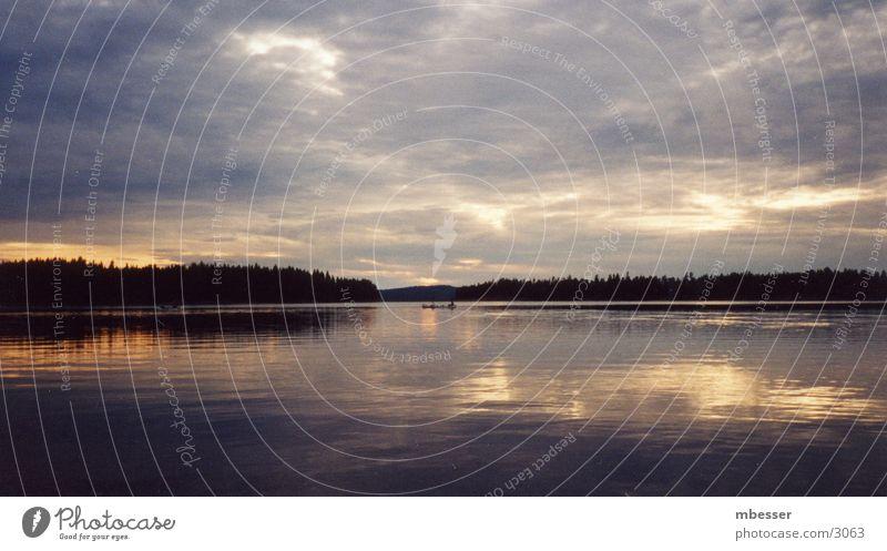 Abend überm See Natur Schweden
