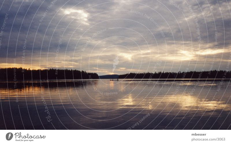 Abend überm See Natur See Schweden
