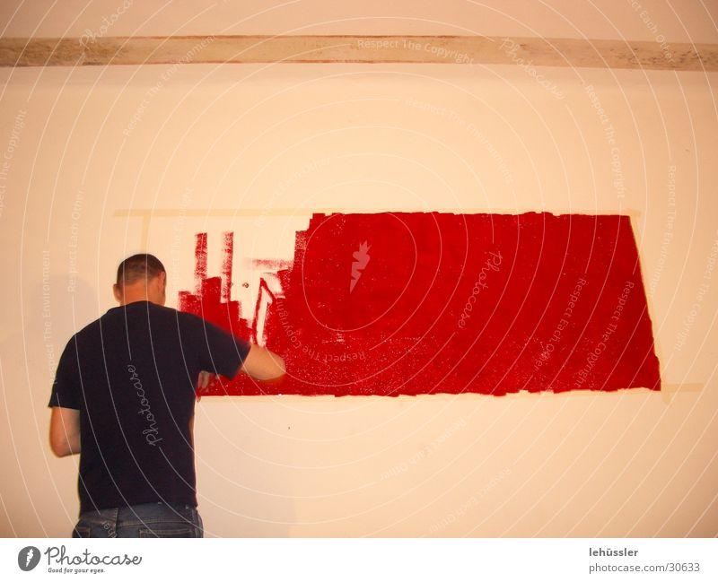kunst im wohnzimmer rot Wand Rechteck Fototechnik Häusliches Leben Bild streichen Blut