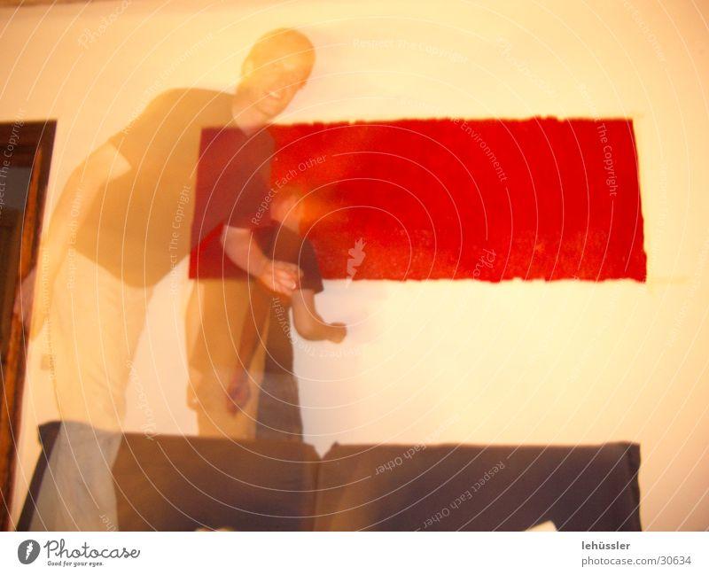 blut und schatten rot Kunst Bild streichen Blut