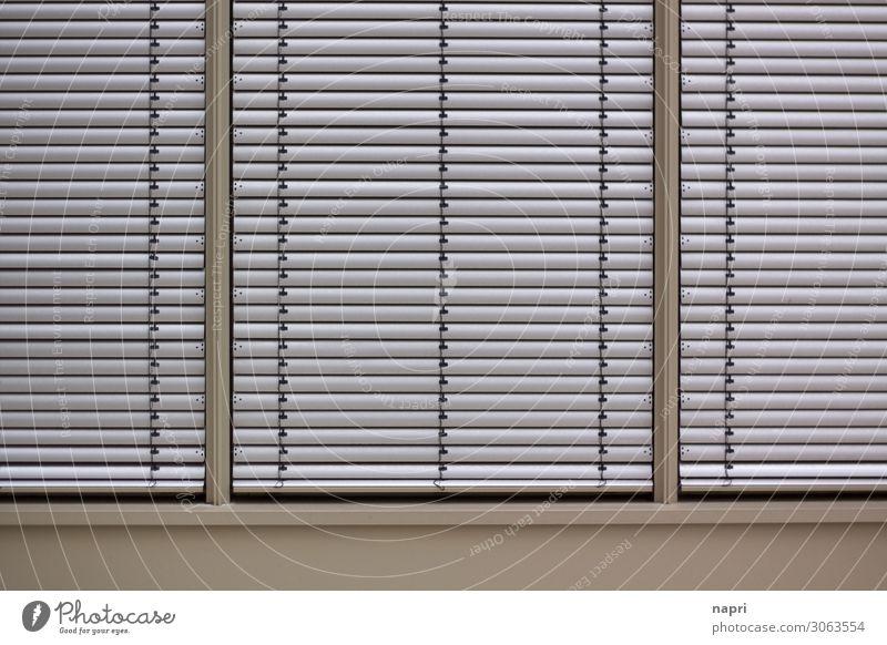 Geschlossene Gesellschaft Business Feierabend Stadt Fassade Fenster modern silber geheimnisvoll Gesellschaft (Soziologie) Schutz Jalousie geschlossen