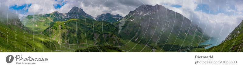 Panorama im Arlberggebirge Ferien & Urlaub & Reisen Natur Sommer Farbe Landschaft Wolken Berge u. Gebirge Umwelt Sport Glück Tourismus Stimmung Ausflug