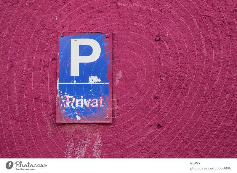 Privater Parkplatz Lifestyle Design Arbeit & Erwerbstätigkeit Beruf Handwerker Arbeitsplatz Baustelle Technik & Technologie Fortschritt Zukunft Stadt Haus Mauer