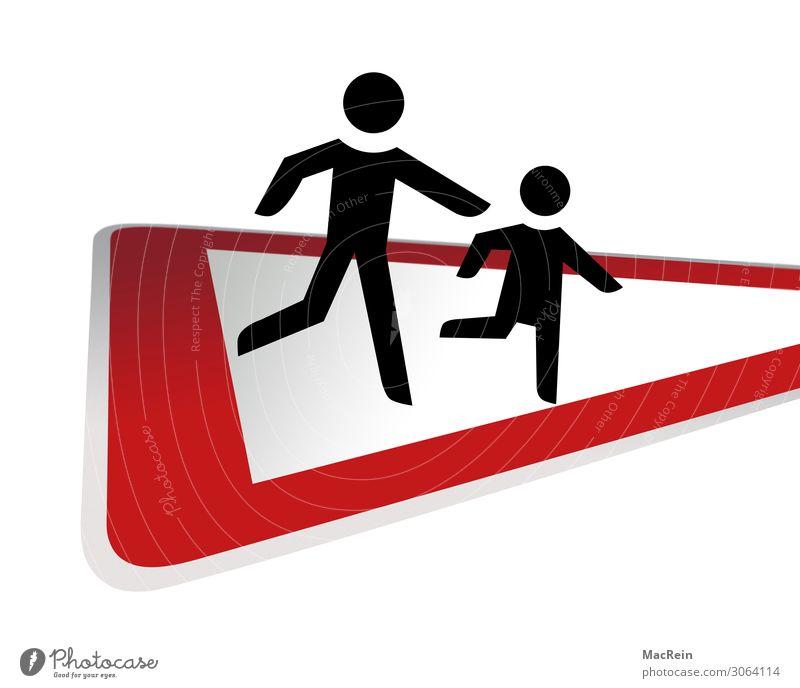 Achtung Kinder Verkehr Straßenverkehr Verkehrszeichen rot Wachsamkeit Ordnung Verbote achtung laufende kinder laufendes kind Ausrufezeichen Dreieck gebot