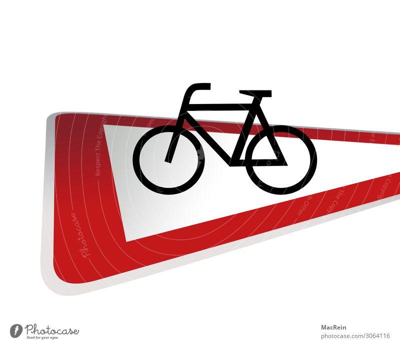 Verkehrsschild Achtung Fahrradfahrer Dorf Fischerdorf Kleinstadt Stadt Hauptstadt Hafenstadt Stadtzentrum Stadtrand Altstadt Fußgängerzone Menschenleer