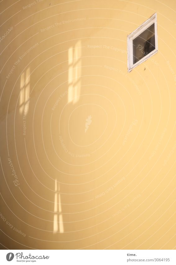 Schein & Sein Stadtzentrum Haus Mauer Wand Fenster gelb Stimmung Gelassenheit ruhig Leben bescheiden Design entdecken geheimnisvoll Inspiration Konzentration