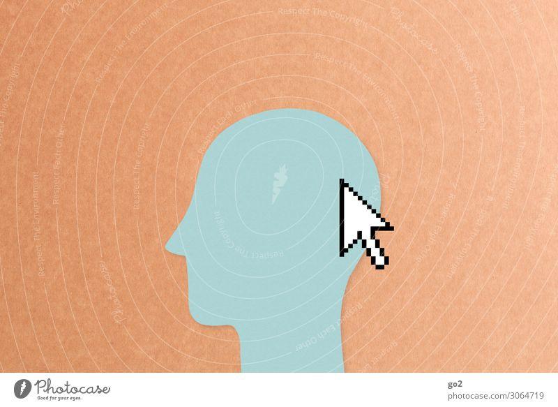 Online Mensch Gesundheit sprechen Kopf Arbeit & Erwerbstätigkeit Büro Freizeit & Hobby Kommunizieren ästhetisch lernen kaufen Grafik u. Illustration Zeichen