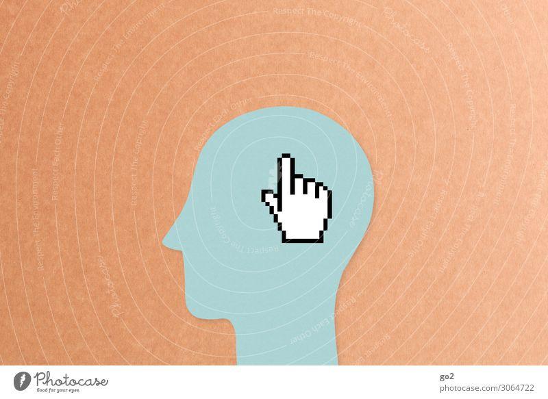 Cursor auf Kopf Schule Studium Arbeit & Erwerbstätigkeit Büroarbeit Arbeitsplatz Medienbranche Werbebranche Mensch 1 Neue Medien Internet Zeichen Design