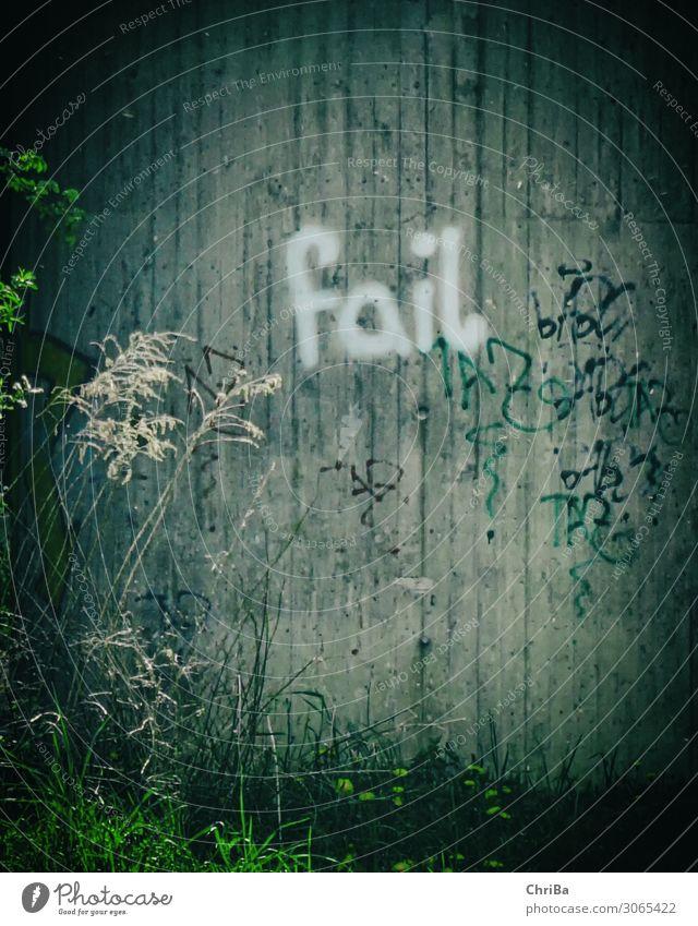 Fail Graffiti Lifestyle Arbeitslosigkeit Kunst Gemälde Jugendkultur Subkultur Pflanze Brücke Tunnel Mauer Wand Schriftzeichen Liebeskummer Schmerz Sehnsucht