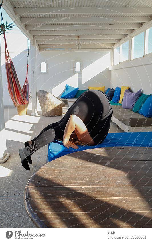 Yoga auf'm Sonnendeck Gesundheit sportlich Fitness Leben harmonisch Wohlgefühl Zufriedenheit Sinnesorgane Erholung ruhig Meditation Freizeit & Hobby