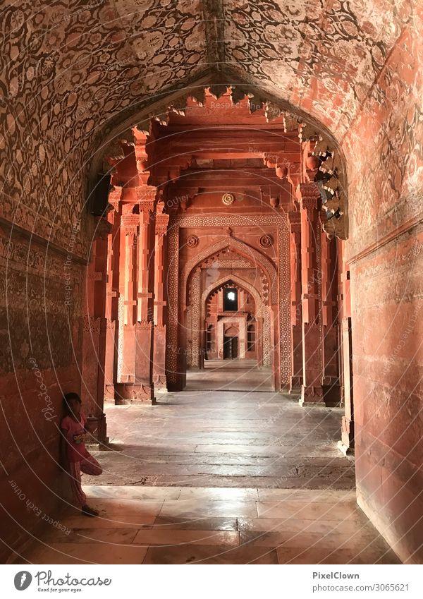 Indien Lifestyle Ferien & Urlaub & Reisen Tourismus Ausflug Abenteuer Expedition Kunst Stadtrand Palast Bauwerk Gebäude Architektur Mauer Wand Fenster