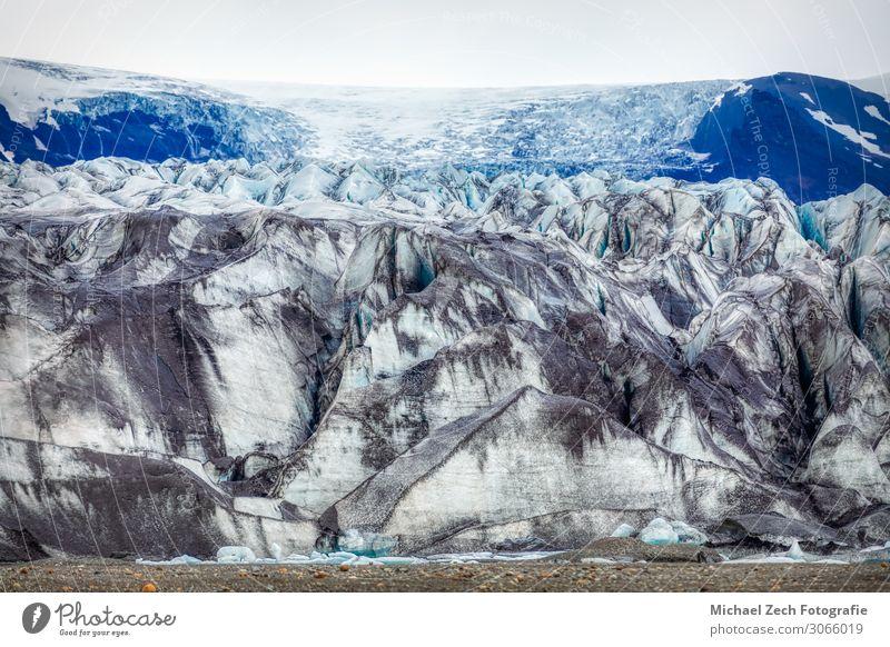 blaue Gletscherstruktur an der Lagune Fjallsarlon auf Island schön Ferien & Urlaub & Reisen Tourismus Ausflug Meer Winter Schnee Berge u. Gebirge Umwelt Natur