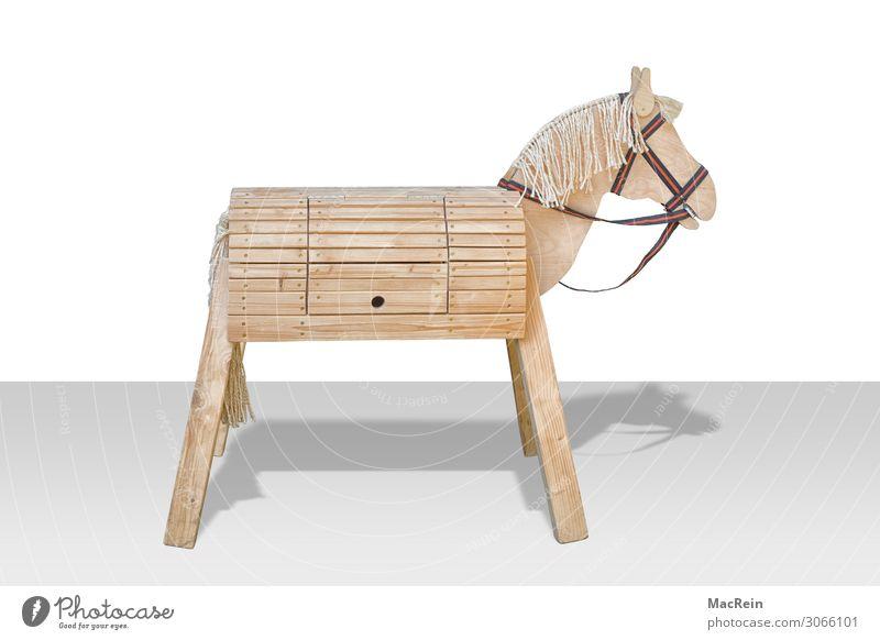 Trojanisches Pferd Handarbeit Kunst Skulptur Kultur Spielzeug Holz Zeichen Freude Griechen Hinterhalt Nachbildung Militär Mythologie planen Symbole & Metaphern