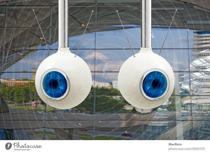Überwachung Videokamera Kontrolle spionieren Überwachungskamera Überwachungsstaat Antenne Farbfoto Außenaufnahme Menschenleer Tag Blick