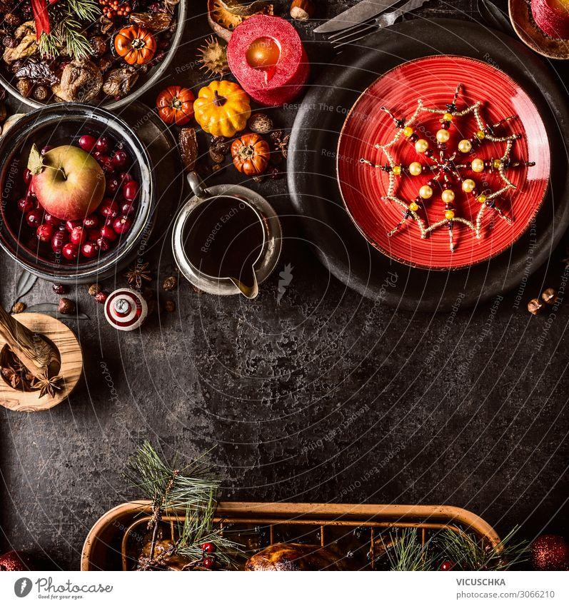 Weihnachtsessen Hintergrund Weihnachten & Advent Foodfotografie Lebensmittel Hintergrundbild Feste & Feiern Stil Party Design Ernährung Dekoration & Verzierung