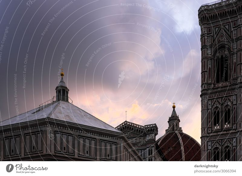 Kathedrale Santa Maria del Fiore Ferien & Urlaub & Reisen Stadt schön Wolken Architektur Religion & Glaube Glück Gebäude Kunst Europa Kirche Kraft Kultur