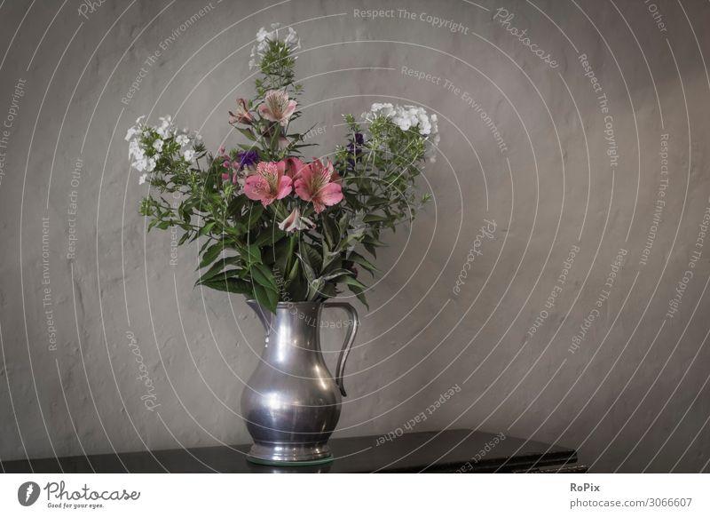 Blumentopf in einem historischen Schloss. Lifestyle Reichtum elegant Stil Design Ferien & Urlaub & Reisen Tourismus Häusliches Leben einrichten Innenarchitektur