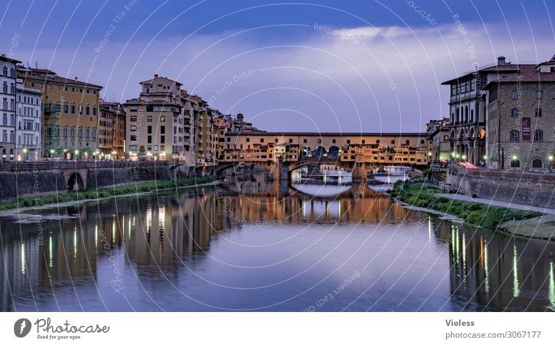 Ponte Vecchio II Florenz Arno Brücke Toskana Nacht Dämmerung Italien Medici Villa Fluss