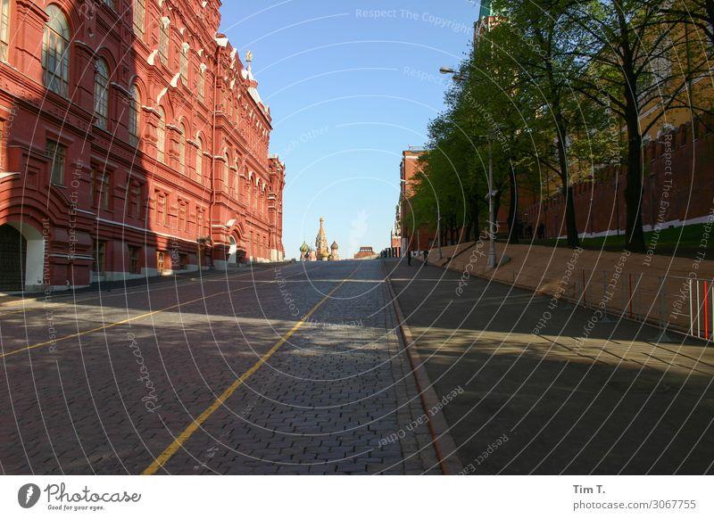 Moskau Stadt Hauptstadt Stadtzentrum Altstadt Skyline Menschenleer Haus Kirche Palast Platz Sehenswürdigkeit Kreml ästhetisch Kraft Straße Farbfoto