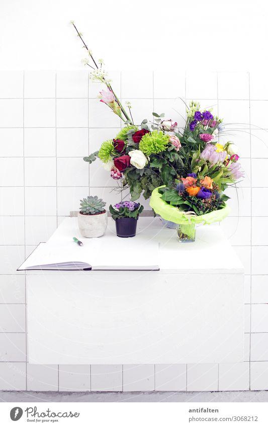 Blumen für den Künstler Lifestyle Stil Innenarchitektur Dekoration & Verzierung Kunst Ausstellung Veranstaltung Mauer Wand Atelier Schreibwaren Papier Zettel