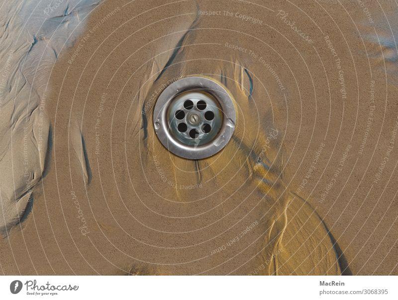 Abflusssieb Lebensmittel trinken Umwelt Natur Landschaft Sand Wasser Klimawandel Regen Wüste Zeichen nass Sauberkeit Umweltschutz untersuchen Sog Gully fließen