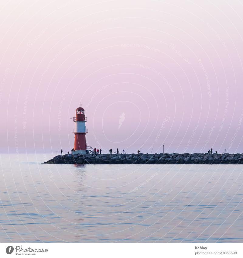 Warnemünde Tourismus Freiheit Sommer Sommerurlaub Meer Natur Himmel Sonnenaufgang Sonnenuntergang Frühling Schönes Wetter Küste Ostsee Rostock Deutschland