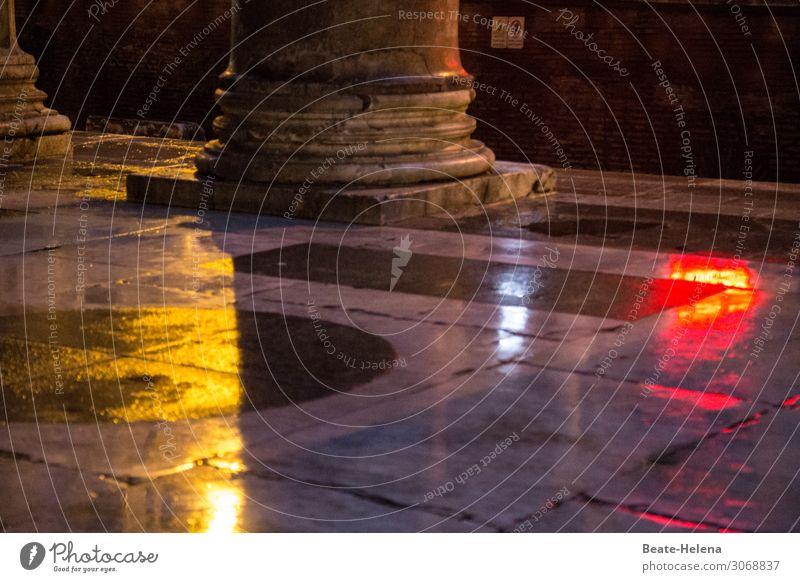Lichtmalerei Kunst Kunstwerk Umwelt Rom Stadt Hauptstadt Palast Platz Bauwerk Bodenbelag Säule Sehenswürdigkeit Straßenbeleuchtung Ampel Beleuchtung beobachten