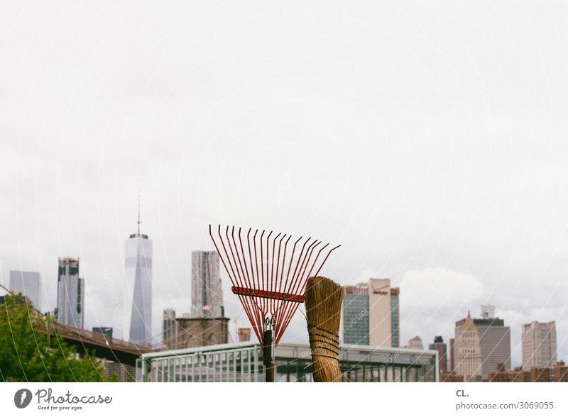 stadtputz Ferien & Urlaub & Reisen Tourismus Städtereise Arbeit & Erwerbstätigkeit Beruf Gartenarbeit Gärtner Arbeitsplatz Himmel New York City Manhattan USA