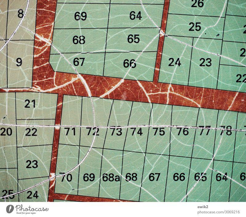 Parzellen Wien Plan Kleingartenkolonie Schrebergarten Ziffern & Zahlen alt Genauigkeit planen Präzision Verfall Vergänglichkeit Wege & Pfade Nachbar Überblick