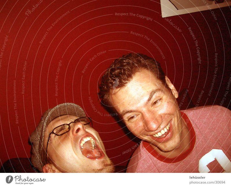 ausgelassene freude Mann lachen Fröhlichkeit Zähne Mensch