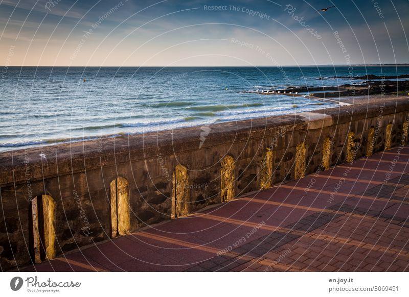 Lichtblicke Ferien & Urlaub & Reisen Sommerurlaub Meer Landschaft Himmel Horizont Sonnenaufgang Sonnenuntergang Schönes Wetter Frankreich Normandie leuchten