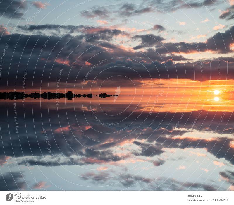 horizontal Ferien & Urlaub & Reisen Ferne Freiheit Sommer Sommerurlaub Sonne Meer Umwelt Natur Landschaft Urelemente Wolken Horizont Sonnenaufgang