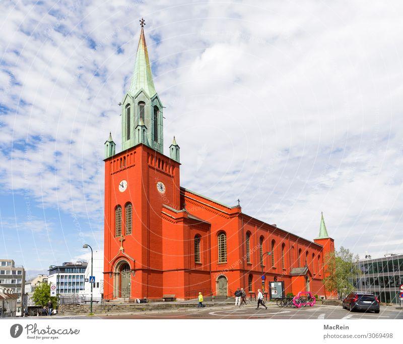 St. Petri Kirche in Starvanger, Norwegen Gebäude Architektur alt rot Religion & Glaube sankt petri Kirche sankt petri kirke stavanger kirche kirchengemeinde