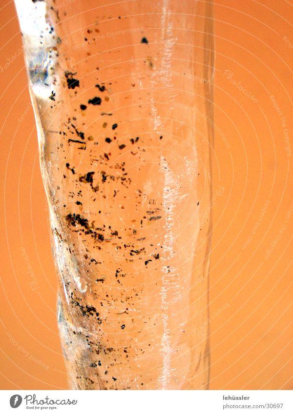 eisiger zapfen detail Eis orange dreckig Eiszapfen