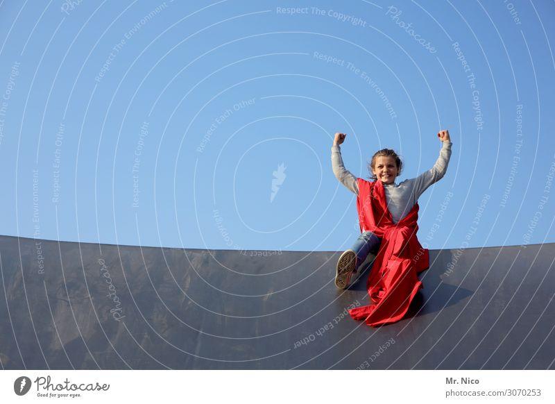 Ladykracher Freizeit & Hobby Fitness Sport-Training feminin Mädchen 1 Mensch 13-18 Jahre Jugendliche Wolkenloser Himmel sitzen muskulös stark Glück