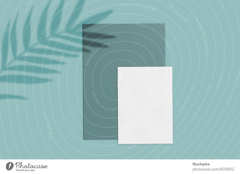 Branding Identitätsnachbildung einer leeren Visitenkarte Stil Design Büro Business Umwelt Natur Blatt Papier dunkel modern Sauberkeit grün weiß Idee Kreativität