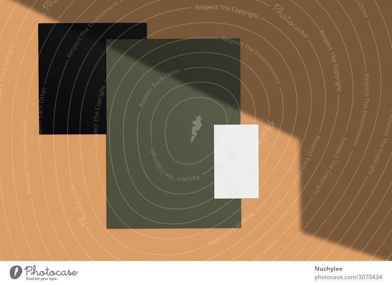 Branding Identitätsnachbildung der Firmennamenskarte Stil Design Büro Business Umwelt Herbst Papier dunkel modern Sauberkeit braun grün weiß Idee Kreativität