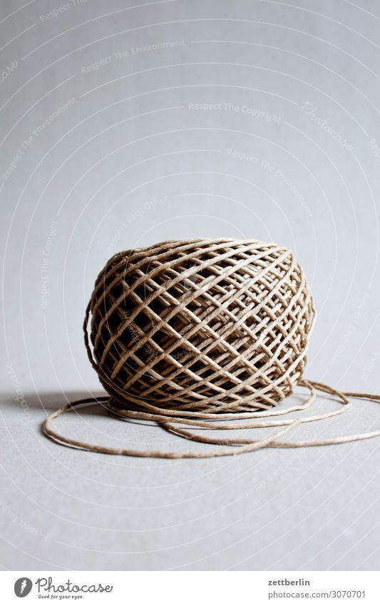 Schnur aufgewickelt binden Ende Nähgarn Knäuel Windung Spule Verbindung wickeln Verpackung Seil