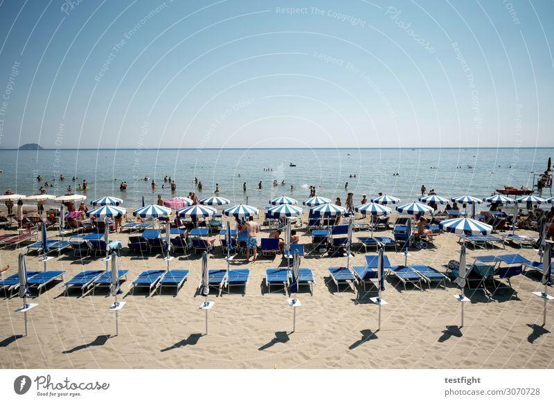 strandleben Ferien & Urlaub & Reisen Tourismus Ausflug Ferne Sommer Sommerurlaub Sonne Strand Meer Mensch Familie & Verwandtschaft Freundschaft Paar Kindheit