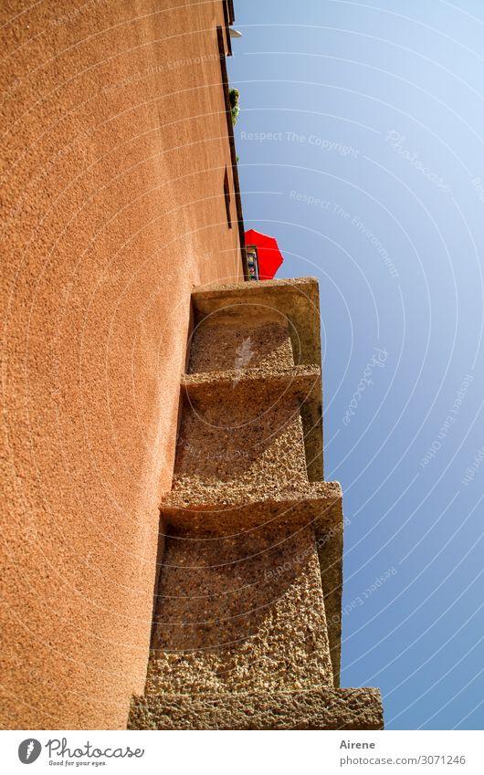besser als nichts Häusliches Leben Dekoration & Verzierung Sonnenschirm Wien Haus Hochhaus Architektur Mehrfamilienhaus Fassade Balkon Sehenswürdigkeit Zeichen