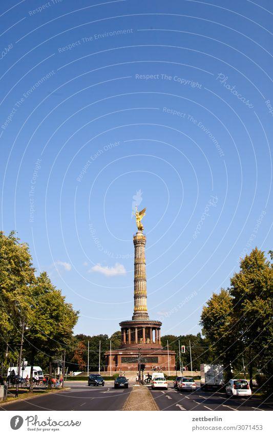 Siegessäule im Berliner Tiergarten Denkmal Deutschland else Feierabend Figur Goldelse gold großer stern Hauptstadt Tourismus Berlin-Mitte Textfreiraum Verkehr