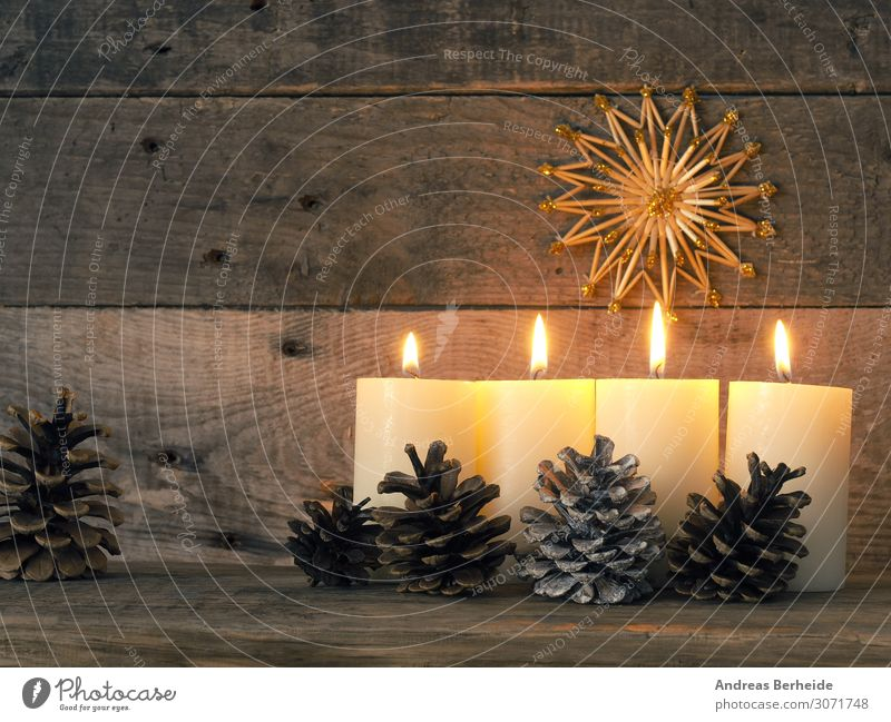 Vierter Advent Winter Musik Weihnachten & Advent Dekoration & Verzierung Kerze Tradition fourth fur glitter golden greeting happy holiday instrument joy lights