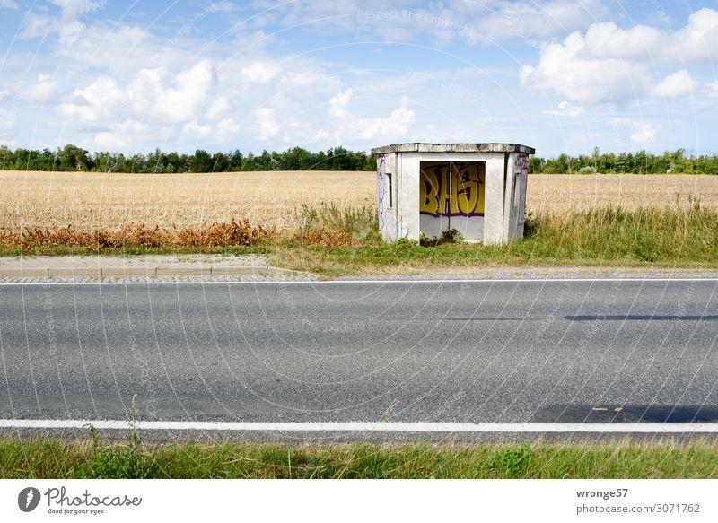 on the road again | Kunstraum Gebäude Wartehäuschen Verkehrswege Personenverkehr Öffentlicher Personennahverkehr Berufsverkehr Straßenverkehr Busfahren