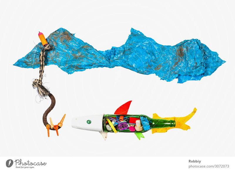 TrashArt V – Meer aus Plastik Kunst See Fisch Ostsee Kunststoff Müll Nordsee Stillleben nachhaltig Angeln Fischereiwirtschaft Umweltverschmutzung