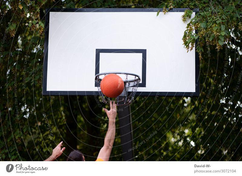 der geht rein Gesundheit sportlich Fitness Leben Zufriedenheit Freizeit & Hobby Spielen Sport Ballsport Sportler Erfolg Mensch maskulin Junger Mann Jugendliche