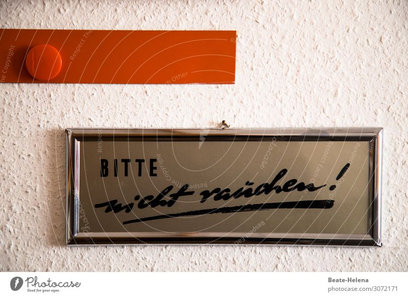 bitte nicht rauchen sparen Gesundheit Gesundheitswesen Leben Wohlgefühl Wohnung Rauchen verboten rauchfrei Zeichen Schriftzeichen Schilder & Markierungen