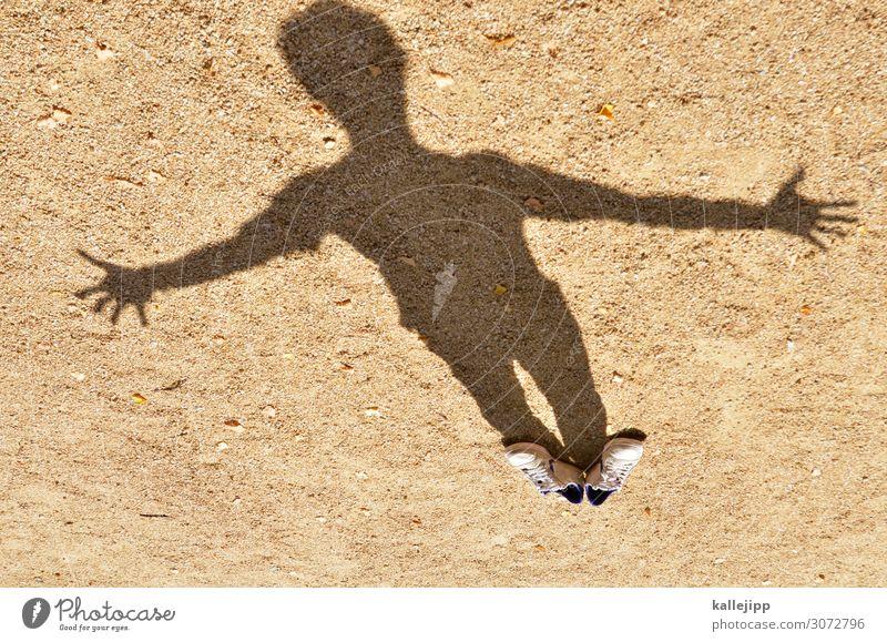 schattendasein Mensch maskulin Körper 1 Kunst braun Schattenspiel Schuhe Turnschuh unsichtbar Transparente Tarnung Jesus Christus Religion & Glaube Christentum